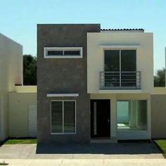 Pin by Fredd on modelos de casas in 2020 Modern Small House Design, Minimalist House Design, House Front Design, Modern House Facades, Modern Bungalow House, Modern House Plans, Architecture Design, Modern Architecture House, Facade House
