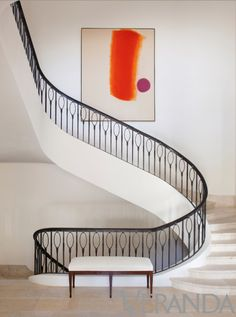 Gorgeous staircase by designer Stan Topol
