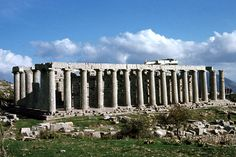 CLASSICAL: The Temple of Apollo Epikourios, Bassai, Iktinos (late 5th century BCE  / 400 BCE): This temple is has a single Corinthian Column infront of the statue of Apollo.  Again signifying a heightened sense of space.