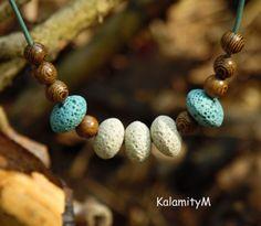 Bílé útesy - lávový náhrdelník náhrdelník dárek bleděmodrá šedobílá lávové korálky Turquoise Bracelet, Beaded Bracelets, Jewelry, Jewlery, Jewerly, Pearl Bracelets, Schmuck, Jewels, Jewelery