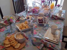Café da tarde em casa para visitas