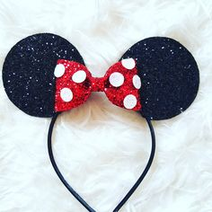 Minnie Mouse Ears Headband Minnie Mouse Birthday Minnie Mouse Headband... ($23) ❤ liked on Polyvore featuring accessories, hair accessories, barrettes & clips, pink, polka dot headwrap, sparkly headbands, hair band headband, sparkly hair clips and pink hair accessories