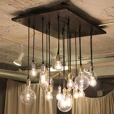 Edison bulb chandelier - totally DIY-able