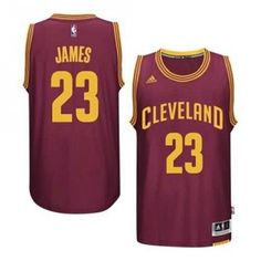 Cleveland Cavaliers - Maillot NBA Lebron James Adidas rouge