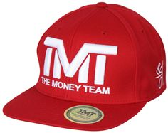 7a348fc9861 The Money Team TMT Floyd Mayweather Courtside Snapback Hat (Red White)