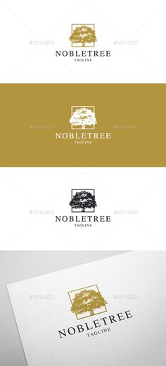 Noble Tree - Logo Design Template Vector #logotype Download it here: http://graphicriver.net/item/noble-tree-logo/5628802?s_rank=31?ref=nesto