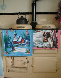 I have a large collection of GB linen towels to display on my AGA soon.