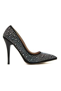 Stunning black & silver - ROMWE Sequined Beads Embellished High Heels, The Latest Street Fashion