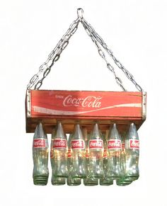 Coke Crate Chandelier by BigSwigDesign on Etsy, $245.00