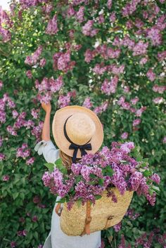 Gal Meets Glam Lilac Season - Reformation dress, Market backpack & Hat from Lily Charleston