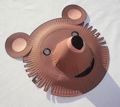 Masque ours - Alice bricole Paper Plate Crafts For Kids, Paper Crafts, Toddler Crafts, Preschool Crafts, Teddy Bear Crafts, Paper Plate Animals, Bear Mask, Animal Masks, Mask For Kids