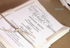 Printable Wedding Menu Card Pretty Script by HeSawSparks on Etsy