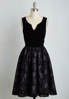 Velvet Victory Dress. Enter into your evening with an obvious style advantage - this luxe dress! #black #modcloth