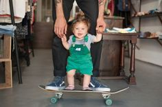 I just had to pin this little girl because she's just about the #cutest #toddler I have ever seen! + daddy on #skateboard is pretty cute too!