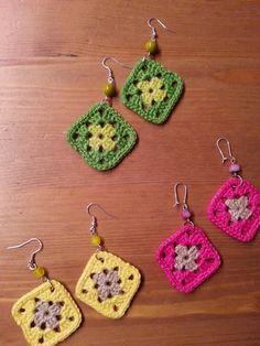 Silmukoita ja suklaakakkua: Pientä virkkausta Easy Crochet Hat, Crochet Daisy, Crochet Flower Tutorial, Crochet Shell Stitch, Crochet Motif, Knit Crochet, Crochet Earrings Pattern, Crochet Jewelry Patterns, Crochet Hair Accessories