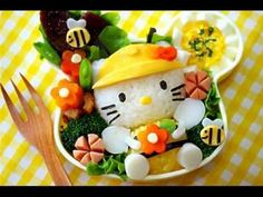 Video of tons of pictures of bento boxes - cute animals, hello kitties, anime and cartoons