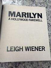 RARE Original Marilyn Monroe SIGNED Book ''Marilyn: A Hollywood Farewell''