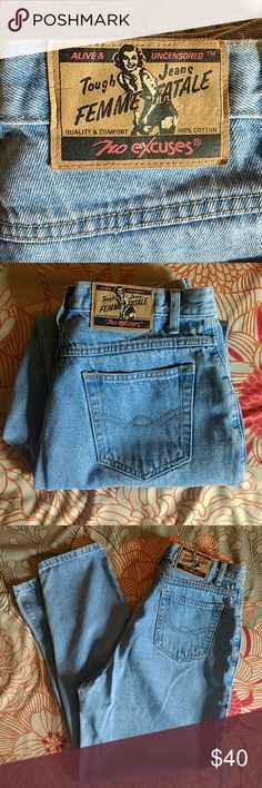 No Excuses 90s high waist taper leg mom jean No Excuses 90s high waist taper leg mom jean sz 15/16  Very light blue. Very good condition  Thanks for looking!! Item is preowned and sold as-is, no refunds. Please review photos carefully. Please feel free to ask questions! no excuses Jeans