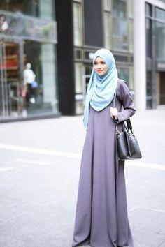 tampilan baju muslim model gamis syari terbaru