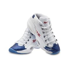 ALLEN IVERSON Autographed Reebok Question Mid Shoes With Blue Toe UDA LE 30 - Game Day Legends
