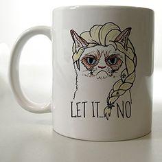 Grumpy Cat Elsa Let It Go Mug Two Side 11 Oz Ceramic Mug http://www.amazon.com/dp/B00VFIYSRC/ref=cm_sw_r_pi_dp_7lFjvb01P25DX