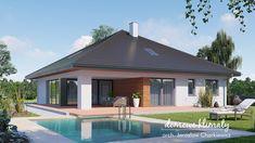 Projekt domu Antares 2T 121,76 m² - Domowe Klimaty House With Porch, Dream House Exterior, House Design, Outdoor Decor, Travel, Home Decor, Dream Homes, Viajes, Decoration Home