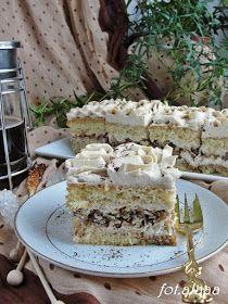 Ala piecze i gotuje: Ciasto mocca z orzechami Polish Desserts, Polish Recipes, Polish Food, Tasty, Yummy Food, Vanilla Cake, Dessert Recipes, Food And Drink, Sweets
