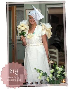 DIY wedding dress game (think T.P.) for the bridal shower.