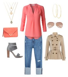 """""""Spring weekend errands"""" by merrilymerrilymerrily on Polyvore featuring Zara, LE3NO, Splendid, Burberry, H&M and Lana"""