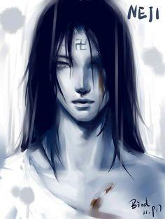 Naruto Shippuden » Fanart + <3 | Neji Hyuuga, curse mark | #neji