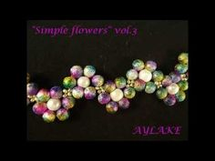 How to do beaded bracelet Simple flowers vol 3