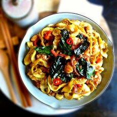 Thai Plant-based Pad Kee Mao noodles (vegan + gluten, grain, nut & sugar-free), a spicy treat - Opti Cook Low Carb Recipes, Vegetarian Recipes, Cooking Recipes, Healthy Recipes, Kee Mao, Vegan Recepies, Yummy Veggie, Asian Recipes, Ethnic Recipes