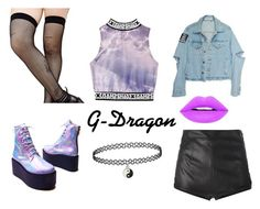 """""""I Don't Wanna Go! (G-Dragon One Shot)"""" by maddie-213 on Polyvore featuring mode, La Perla, UNIF en Music Legs"""