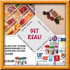Real Food, Real Simple, Real Results, Real Affordable!