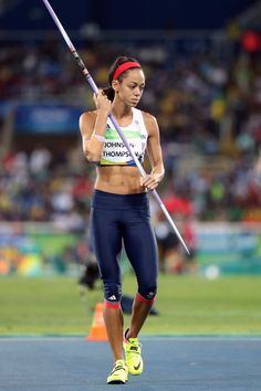 Move with Me Katarina Johnson Thompson, Heptathlon, Daily Burn, Commonwealth Games, Olympic Athletes, Women Volleyball, Workout Attire, Sporty Girls, Sports Stars