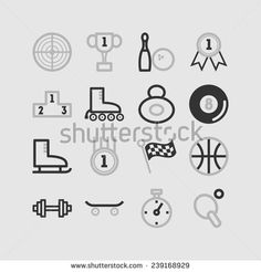 Set of simple sport icons
