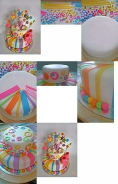 Infantil Fondant Cake Tutorial, Fondant Cakes, Cupcake Cake Designs, Cupcake Cookies, Cake Decorating With Fondant, Cookie Decorating, Birthday Cake Writing, Quick Cake, Edible Creations