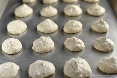 Crispy meringue cookies made with pecans to add a nutty flavor to these crunchy and chewy cookies.