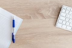 Free stock photo of blank composition desk