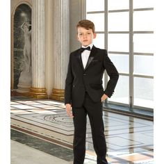 247-1 Tugi Erkek Çocuk Takım Elbise Smokin Siyah