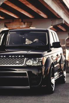 #RangeRover #Black #Matte #rims #Plain