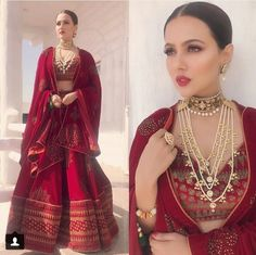 Image may contain: 2 people Indian Bridal Lehenga, Indian Bridal Fashion, Indian Wedding Outfits, Bridal Outfits, Indian Outfits, Bridal Dresses, Indian Bridal Makeup, Indian Clothes, Indian Weddings