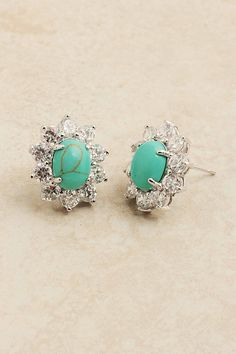 Classic Turquoise Earrings on Emma Stine Limited