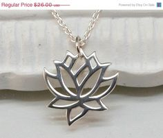 10% SALE-SHIPPING DELAY.. Silver Lotus by MichelePosterJewelry