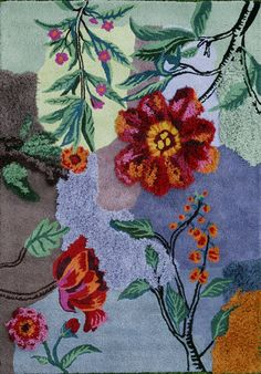 Hand tufted wool limited edition rug by Nathalie Tete