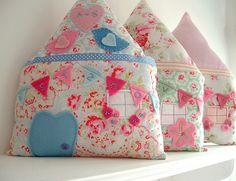 cute little house pillows