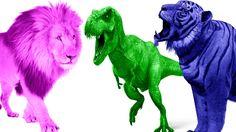 Learn Wild Animals Finger Family | Lion Finger Family | Dinosaur Finger Family | Tiger Finger Family http://youtu.be/UW5AngvBouw