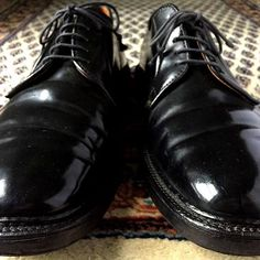 2016/12/01 06:14:35 newyorkandtokyo Alden 9513Y Black Shell Cordovan Plain Toe Blucher by Budapester Schuhe, Berlin  ベルリン Budapester Schuhe のレアモデル。オールデン 9513Y ブラック シェルコードバン プレーントゥー ブルーチャー 8.5E の輝き。  #絨毯 #alden #aldenshoes #cordovan #オールデン #fashion #オークション #古着 #used #vintage #outfit #shoes #靴 #shoe #ビンテージ #collection #コーディネート #coordinate #shoeshine #shoesoftheday #tokyofashion #shoeporn #ootd #ヤフオク #ファッション #革靴 #足元くら部 #足元倶楽部 #アメカジ #コードバン