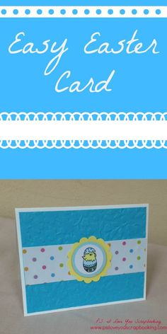 Here is an Easy Easter Card to make. I used a Penny Black stamp from the Garden Friends Set, card stock, patterned paper, and circle punches. Card Making Tutorials, Card Making Techniques, Easter Card, Easter Bunny, Friends Set, Circle Punch, Cricut Cards, Penny Black, Spring Crafts