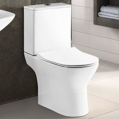 Contemporary Bathrooms, Modern Bathroom, Pedestal Basin, Close Coupled Toilets, Toilet Cistern, Funky Bathroom, Modern Bathrooms, Bathroom Modern